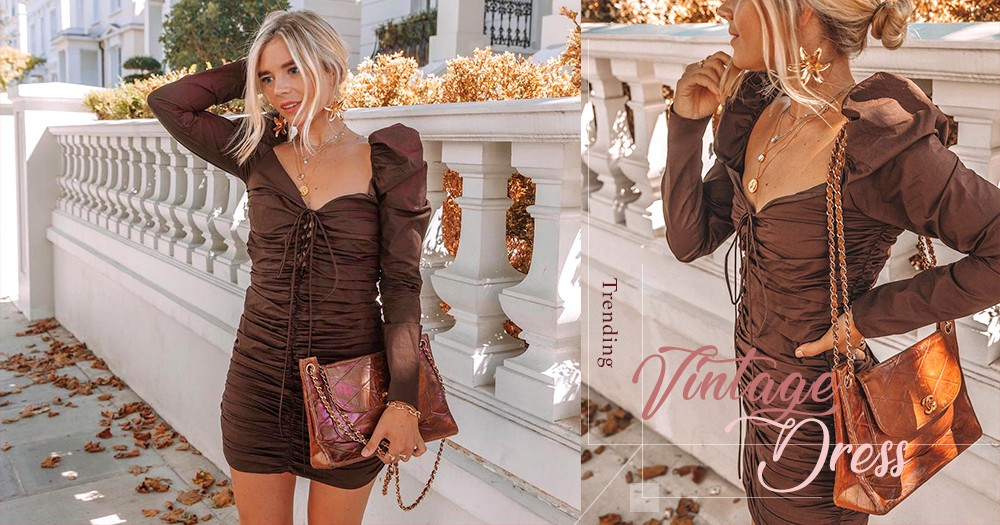 被大熱追捧的連身裙,竟然出自這個品牌?席捲 Instagram 的復古繫帶裙子!