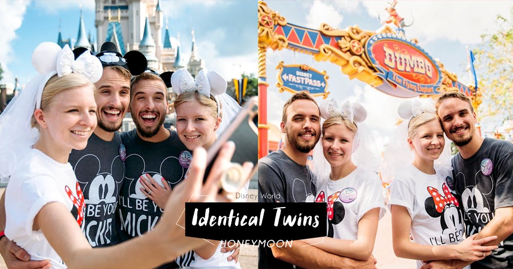「能與你一起成長、結婚最幸福!」這2對雙胞胎新人在迪士尼樂園一起蜜月遊!