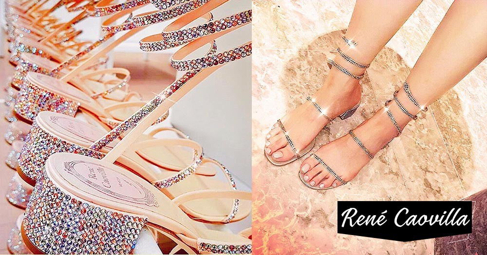René Caovilla:即使是涼鞋也能感受到滿滿的奢華感覺,因為你正是踏著閃閃星光走路!