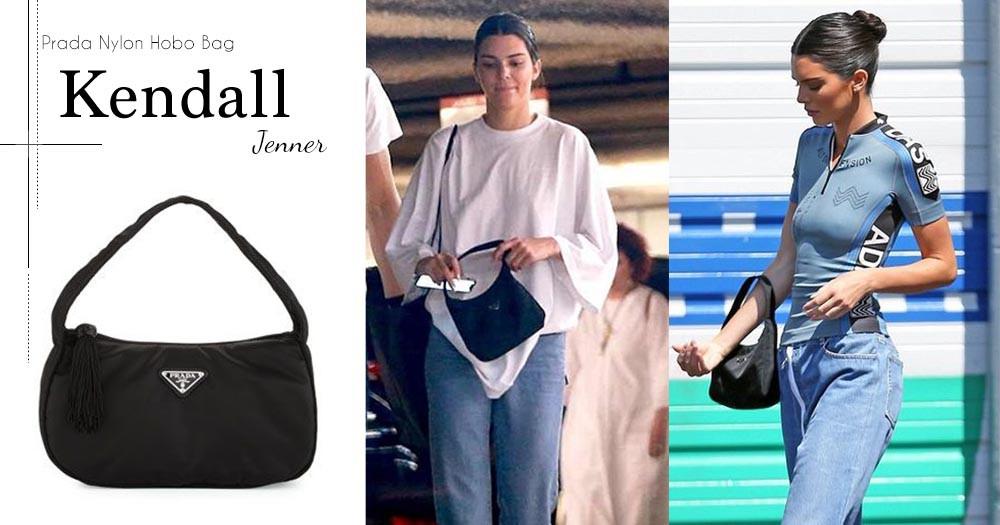 最近迷上Prada的Kendall Jenner,每次出門均選用這個90年代出品的Vintage Bag!