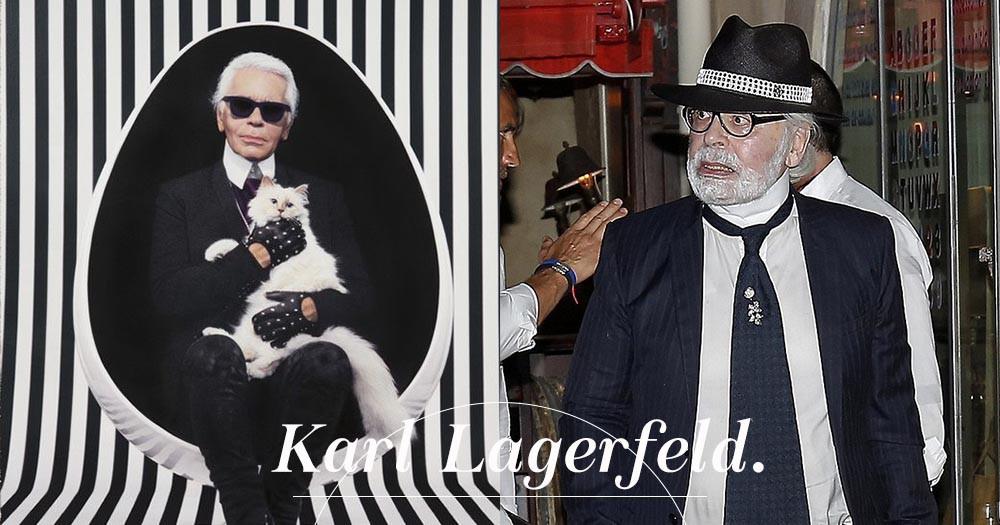 你沒看錯!墨鏡下的老佛爺Karl Lagerfeld原來是這樣,就像位慈祥和藹的老爺爺!