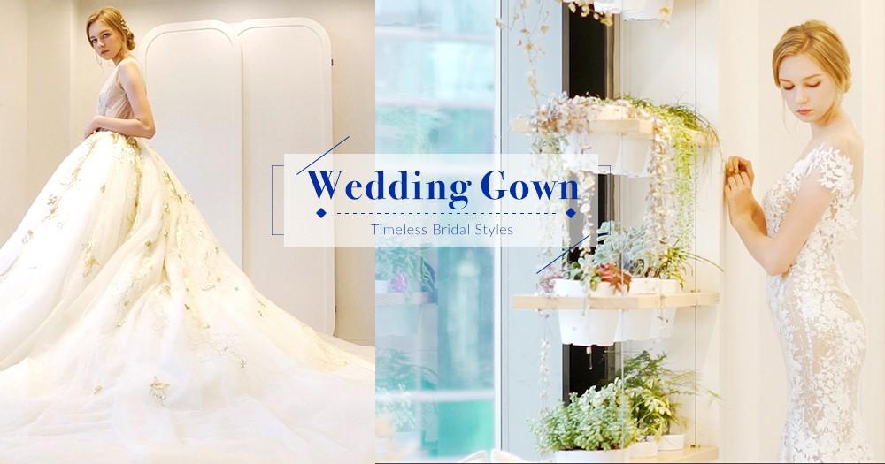 「用細節造出禮服的美」古典精緻蕾絲刺繡婚紗,讓你在大日子美得讓人目不轉睛!