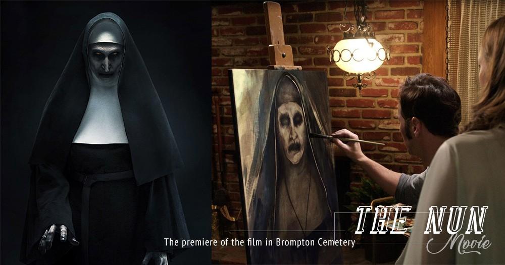 「坐在身邊一起看電影的,是人還是鬼?」《詭修女》在百年墳場首映,修女工作人員陰森帶路