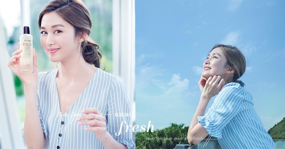 「晴朗藍天,讓我尋回力量!」岑麗香喜愛凝望藍天,並用天然護膚品享受最Fresh的自己!