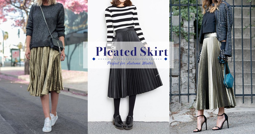 今個秋冬,就以中長百褶裙完整你的造型,展現最嫵媚的知性美!