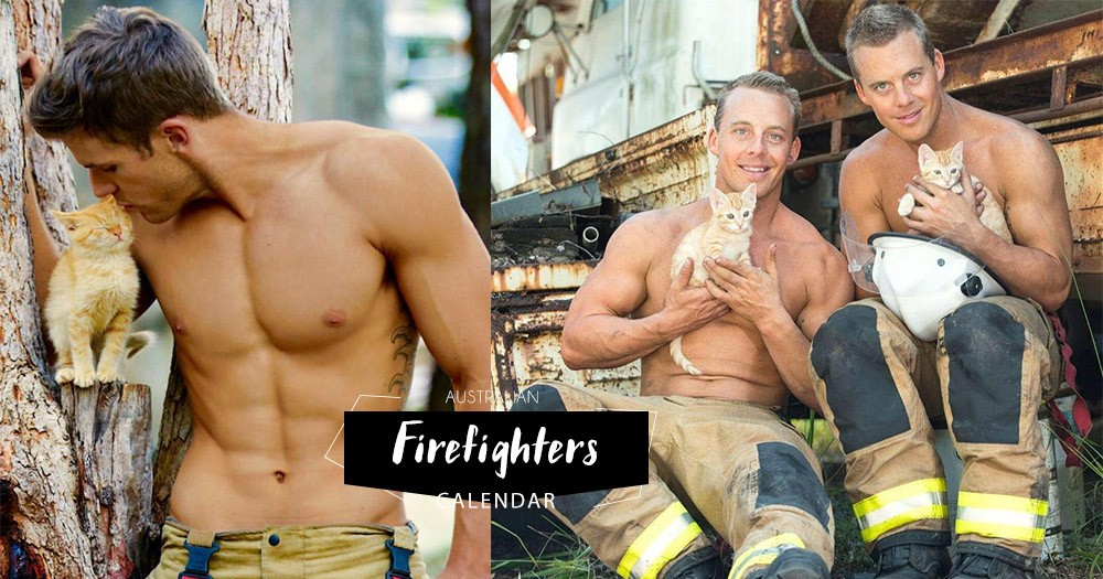 萌萌的爆肌「澳洲消防員日曆」又來了:今年猛男夥拍可愛動物拍攝,為澳洲野生動物醫院籌款