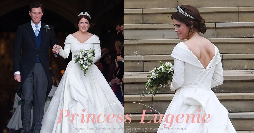 Princess Eugenie大婚:刻意棄用頭紗露出背後疤痕,背後的原因令人動容!