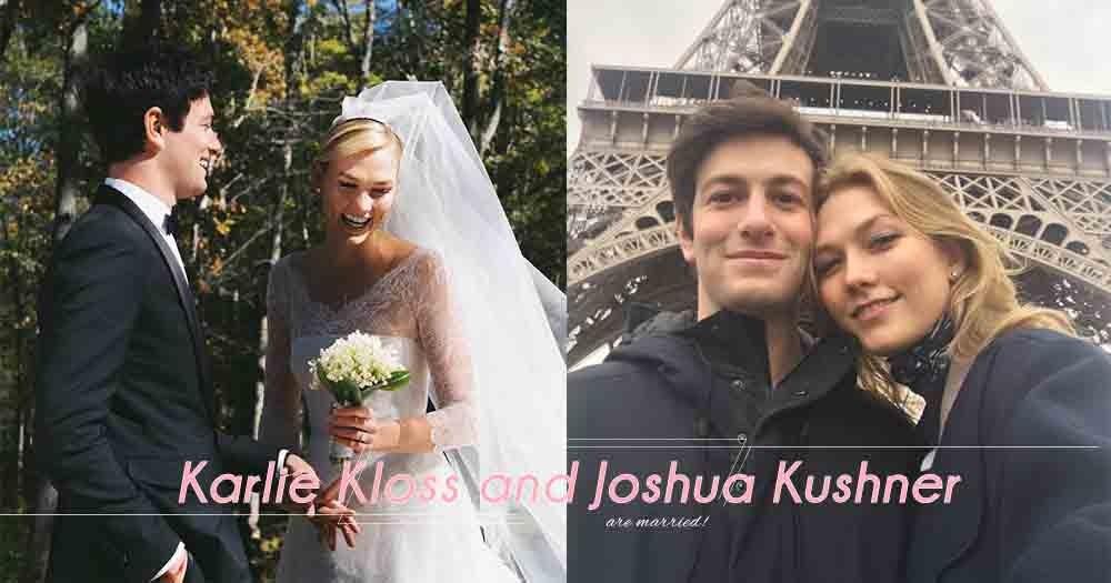 「婚禮不需要鋪張,因為有你就夠!」超模Karlie Kloss與富商男友Joshua Kushner日前低調完婚!