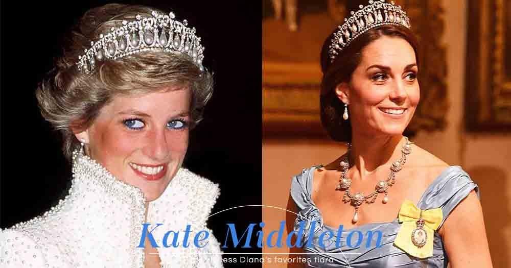 美得宛如真實的童話公主!Kate Middleton用上戴安娜王妃的皇冠出席國宴!