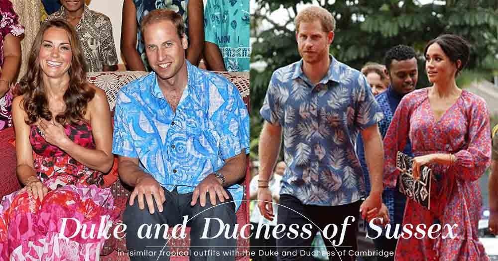難道這就是非官方皇室打扮?哈里王子和Meghan Markle外訪與6年前威廉王子、Kate Middleton的打扮極相似!