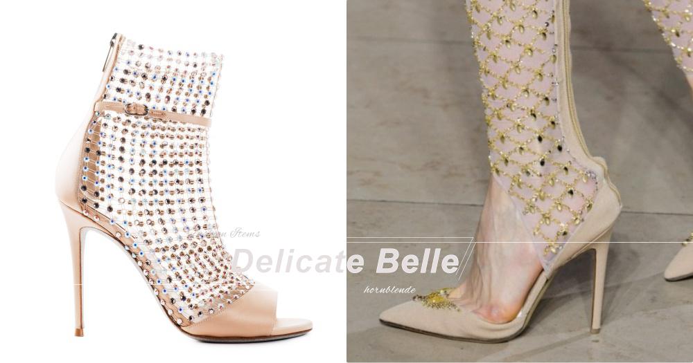 別致極亮麗!今秋必上腳!高雅與大氣兼備的水晶與網織美鞋!