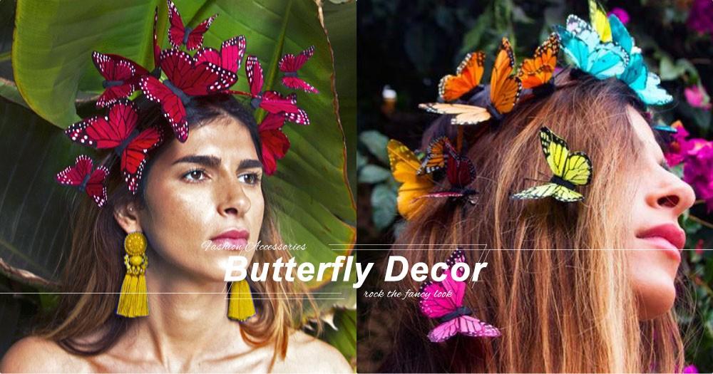 超現實綺麗!漫天飛舞的蝴蝶頭飾,絕對能滿足愛幻想的你!