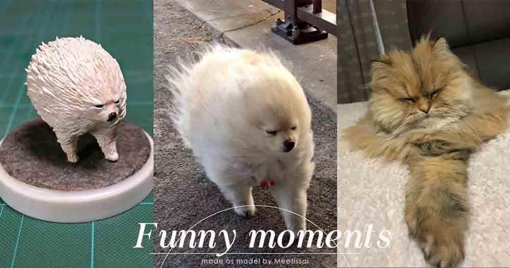 不單是治癒這麼簡單!日本模型藝術家以網上爆紅圖片為靈感,製作出超搞笑的作品!