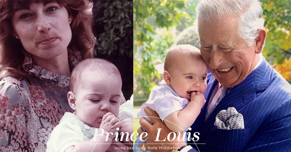 「完全是迷你版Kate!」Prince Louis被發現樣子跟母親Kate Middleton嬰兒時十分相似!