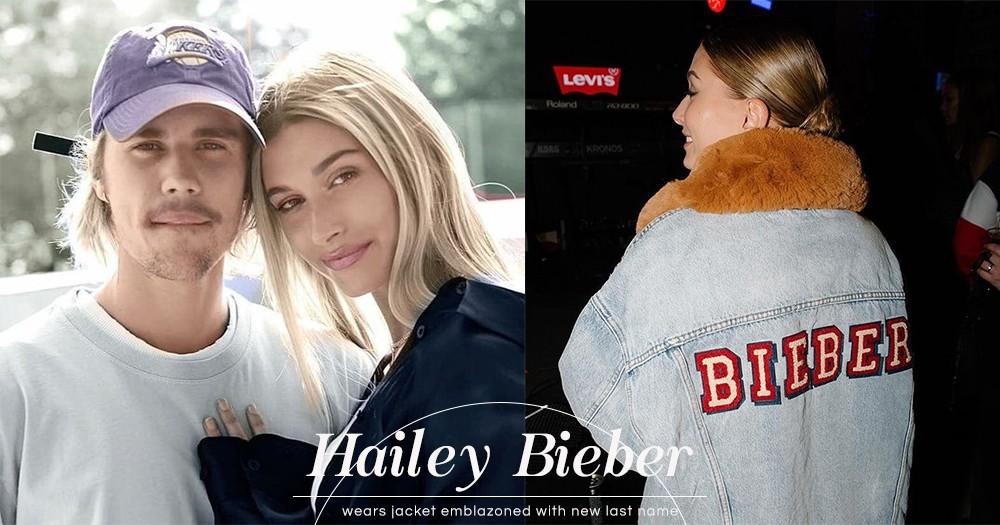 Hailey Bieber獨自出席活動時,身穿繡有夫姓「Bieber」的外套高調放閃!