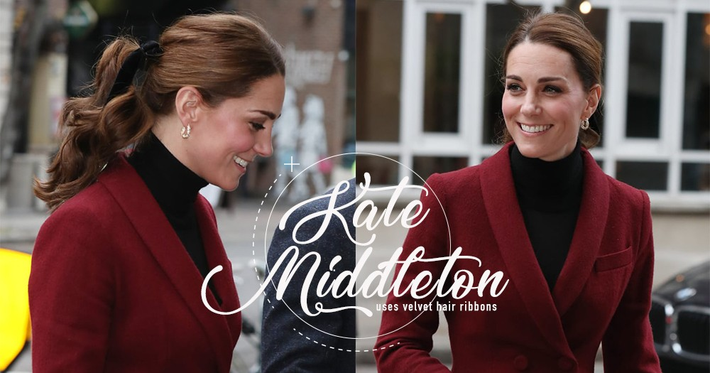 往後在束馬尾時只需要添加一個元素,就能輕易打造Kate Middleton的英式典雅風格!