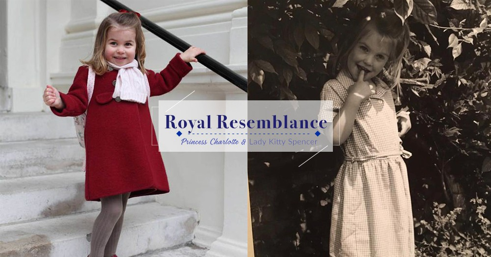 皇室的完美承傳!Lady Kitty Spencer張貼童年照被發現跟Princess Charlotte極為相似!