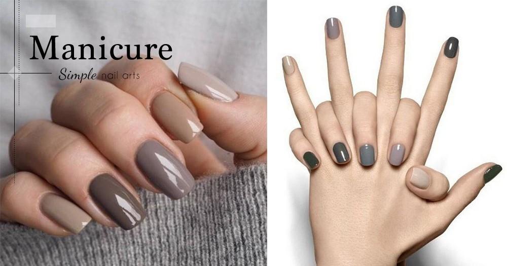 手殘女也能為自己畫出美甲來!超容易的跳色指甲,能夠瞬間為指尖帶來超美的高雅氣質!