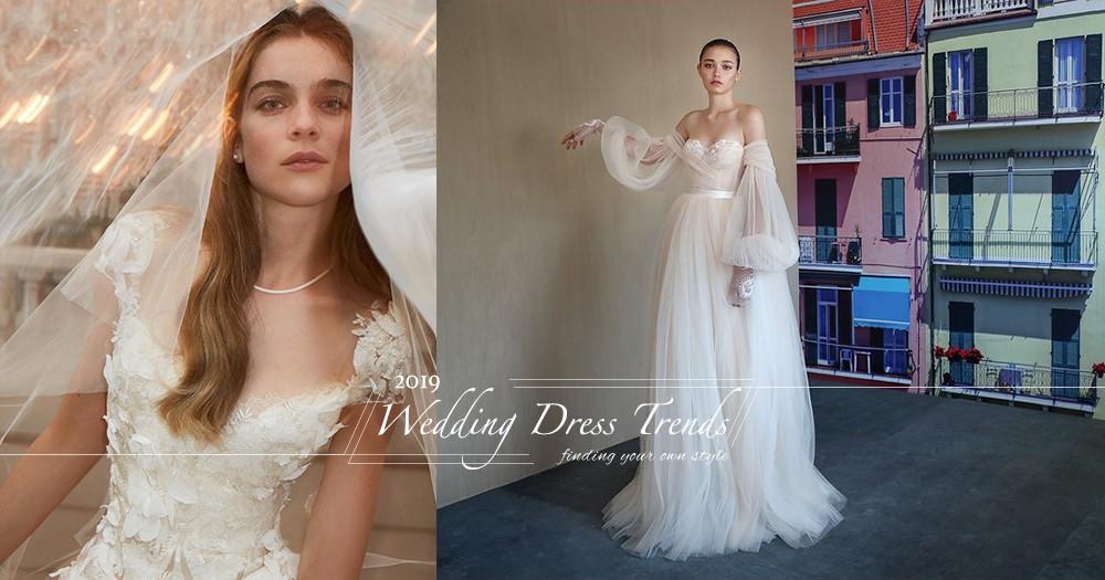 準新娘必看:2019婚紗潮流趨勢,薄紗透視設計仍是主打!