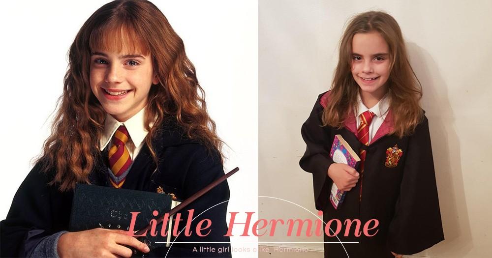 相似度近99%!英國9歲小女孩Emmie仿佛穿越時空來到現實,神還原當年的妙麗!