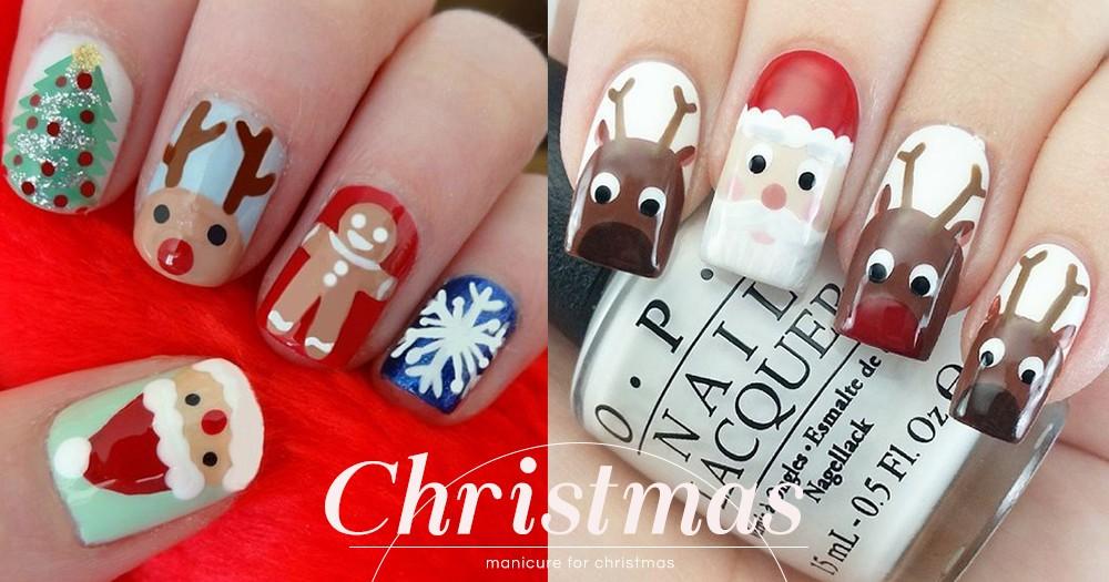 Q版的聖誕老人、薑餅人都有!12款聖誕限定美甲造型提案,誓要美美的過節!