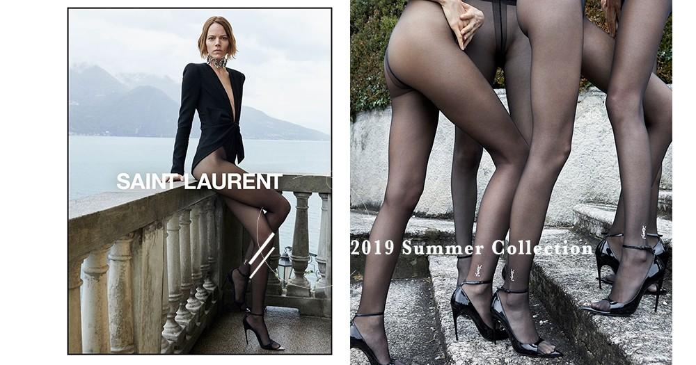 SAINT LAURENT最新性感廣告照,今個夏天就是要「高衩」!