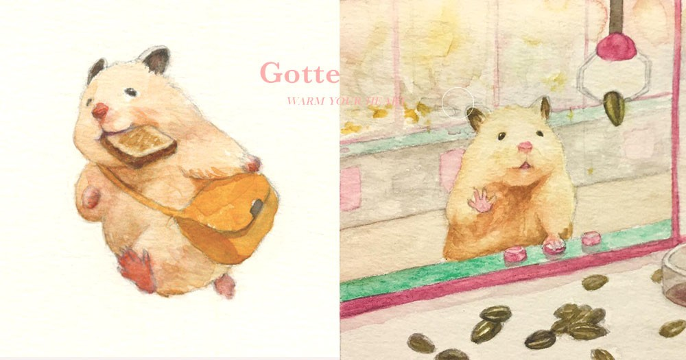 我們都需要被可愛療癒:日本插畫師筆下畫出超萌小倉鼠日常!呆滯表情令人融化了~