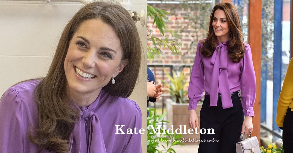 人美心更美:凱特王妃近日打扮得端莊優雅,拜訪兒童中心!