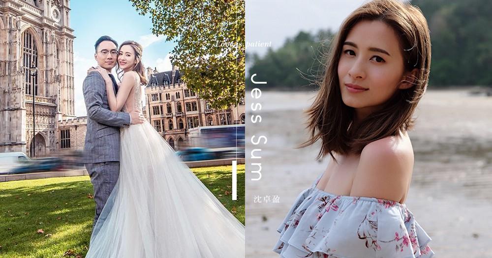 沈卓盈成幸福人妻!穿上來自以色列婚紗名牌~小性感夢幻紗裙,彰顯仙女感!