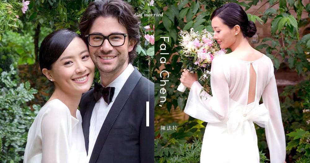 男才女貌的一對:陳法拉宣佈與法籍男友訂終生「得到大家的祝福,真的很感動」