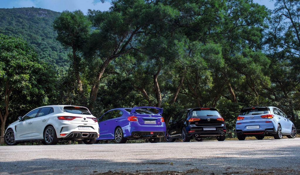 Volkswagen Golf GTI Performance, Volkswagen, Renault Megane R.S., Renault, Subaru WRX STI, Subaru, Hyundai i30 N Performance, Hyundai,