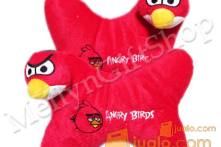 harga BMB10 - Bantal Mobil Isi 2 Boneka Angry Bird Merah Jualo.com