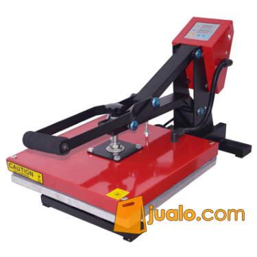 Mesin Press Kaos Merah