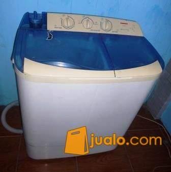 mesin cuci 2 tabung sanken biru