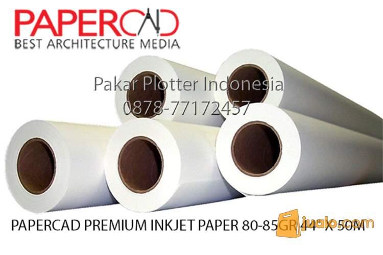 harga Jual Kertas Plotter PaperCad Premium Inkjet 80-85 gr 44 x 50 m Jualo.com