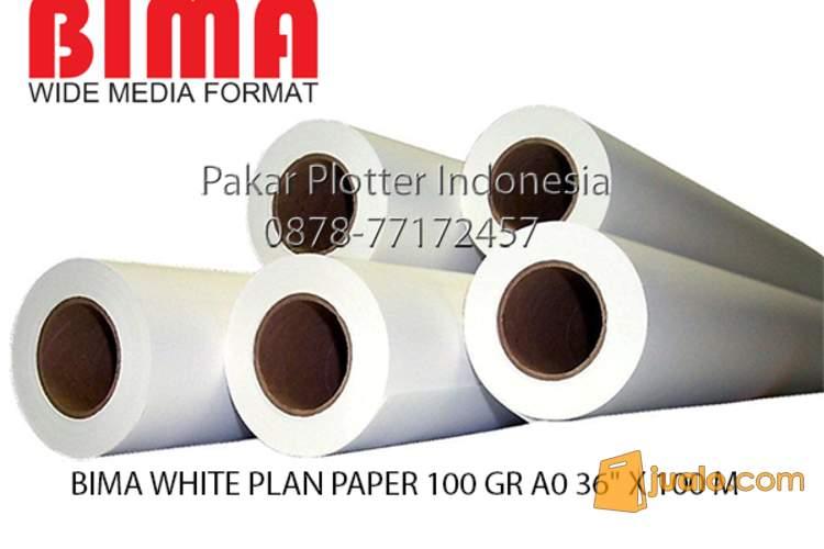 harga Jual Kertas Plotter Bima White Plan Paper 100 GR A0 36 X 100 M Jualo.com