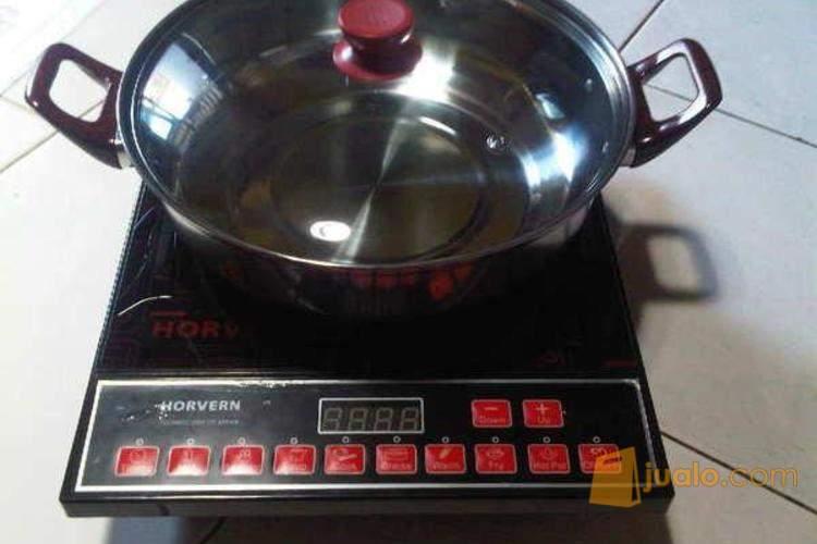 kompor listrik induksi Horvern 1 dan 2 tungku kompor canggih memasak tanpa api besar