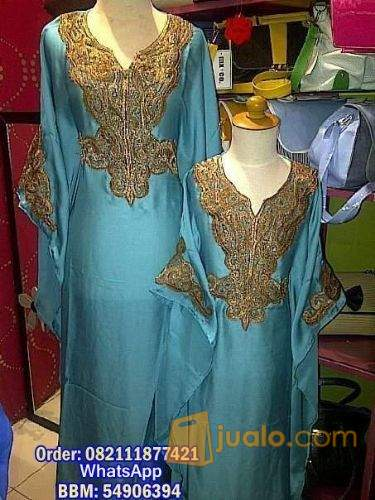 harga kaftan princess Mom and Kid 012 Warna Biru Jualo.com