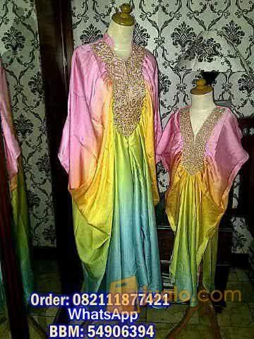 harga kaftan princess Mom and Kid 006 Warna Gradasi Jualo.com