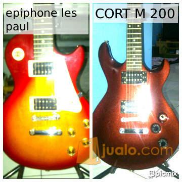 harga Gitar cort m 200 dan epiphone less paul Jualo.com