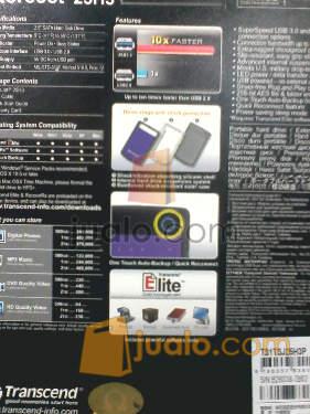 harga Hardisk Eksternal Transcend 25H3 1TB ShockProof Jualo.com