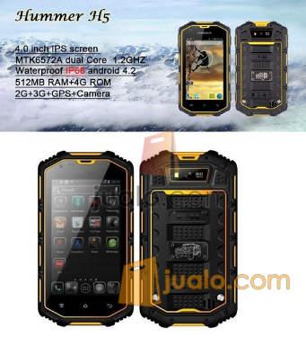 harga ORIGINAL Hummer H5 Waterproof PHONE 3g Dual Core Android 4.2.2 4GB WIFI GPS Jualo.com