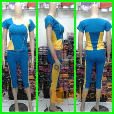 Jual Baju Senam Celana 3/4 Murah. Kode KT34 015.