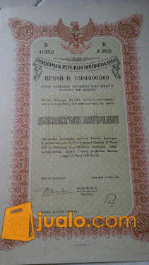 harga Surat Utang Negara / Obligasi Indonesia 1950 Jualo.com