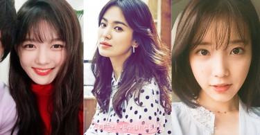 瀏海不能亂剪啊~拿著她們的照片給造型師吧!韓國女神們的5款大勢時尚瀏海造型!