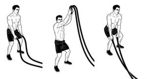 Two-Hand Rope Jump Slams