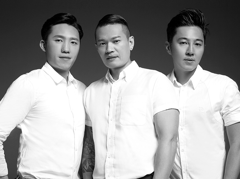 FAC3INC co-founders (from left) John Lee, Peter Khor and Rick Yang.