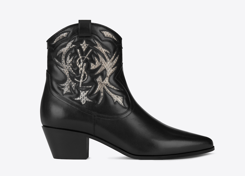 Saint Laurent Rock 40 Cowboy Ankle Boots from Cruise 2017