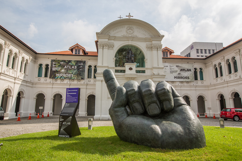 Lim Soo Ngee's Inscription of the Island at the Singapore Biennale 2016 (Photo courtesy of Singapore Art Museum)