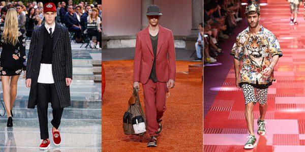 From Left: Versace, Ermenegildo Zegna, Dolce & Gabbana